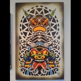 Calavera Coaster Giclee - Pooch