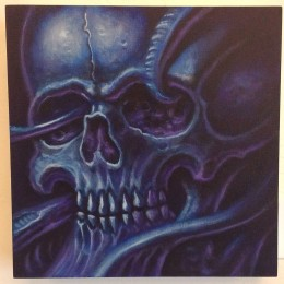 Blue Skull by Pooch